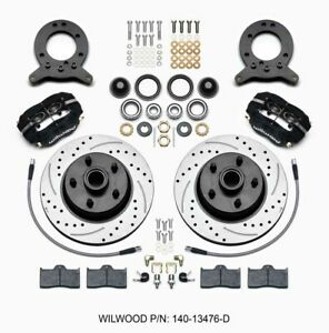 Wilwood Front Disc Brake Kit 65 69 Mustang Drilled P N 140 13476 D