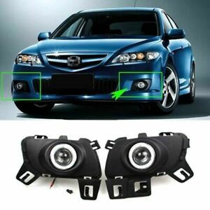 Led Cob Angel Eyes Hid Lamp Projector Lens Foglights For Mazda 6 Coupe 2006 2014