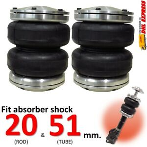 2 Universal Air Bags Sleeve Fit Shock Absorber Tube 20 51 Mm Air Ride Suspension
