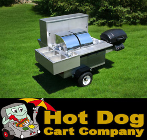Hot Dog Cart Vending Concession Trailer Stand New Lightning Bolt Grill Model