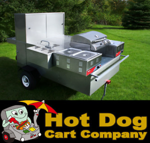 Hot Dog Cart Vending Concession Trailer Stand New The Hybrid Hot Dog Cart Model