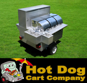 Hot Dog Cart Vending Concession Trailer Stand New Lightning Bolt Hot Dog Cart