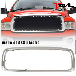Tidal Grille Shell Chrome Abs Plastic Fit 2003 2005 Dodge Ram 1500 2500 3500