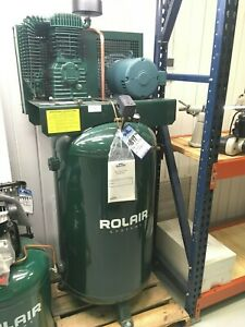 Rolair 5 Hp 80 Gallon Air Compressor 208 240 Volt 3 Phase