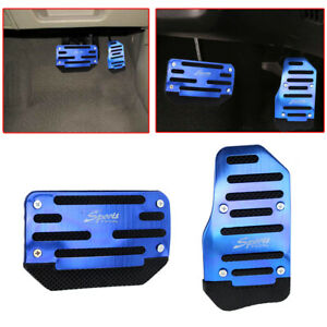 Blue Non Slip Automatic Gas Brake Foot Pedal Pad Cover Car Accessories Universal