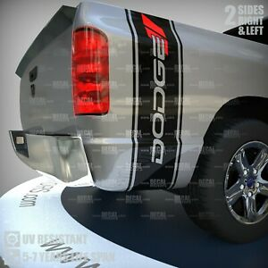 Fits Dodge Ram 1500 Vinyl Decal Rear Bed Side Stripe Hemi Head Sticker 3m 042a