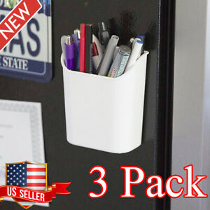Magnetic Pencil Storage Cup Plastic Wall Hanging Whiteboard Markers Pens Holder