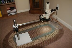 Reconditioned Olympus Trinocular Stereo Zoom And Boom Microscope Super Nice