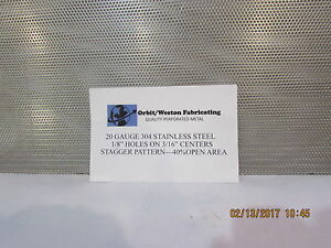 1 8 Holes 20 Gauge 304 Stainless Steel Perforated Sheet 11 1 2 X 23