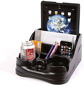 Car Organizer Cup Holder Drink Pad Pen Storage Black Compact Clutter Catcher