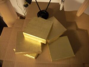 Made In America 2 5 X 1 1 2 X 7 8 55 Ea 5 Free Solid Gold Cotton Filled Boxes