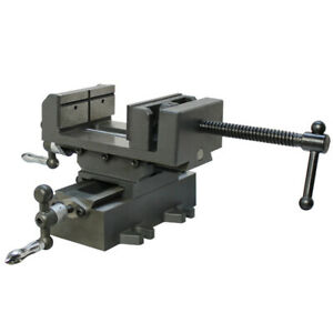 2 Way Cross Vise Clamp Holder Drilling Milling Machine Cross Slide Drill 3 Jaw