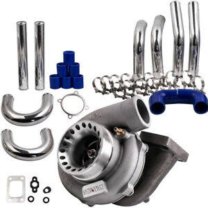 Universal Gt35 Gt3582 Turbocharger Turbo Piping Pipe Kit T3 Ar 70 63 Anti Surge