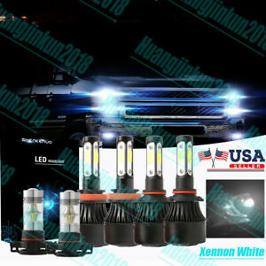 Xenon White 4 side H11 9005 Led Headlight Foglight For Chevrolet Silverado 1500
