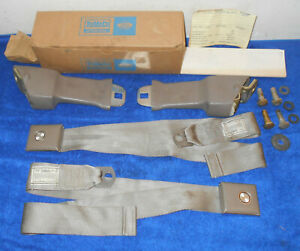 1967 Ford F100 F250 Truck Nos Deluxe Ivy Gold Green Front Seat Belts retractors