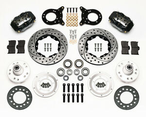 Wilwood Dynalite Front Disc Brake Brakes Kit 70 73 Mustang Torino Drilled Comet