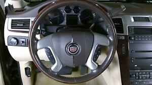 07 08 Cadillac Escalade Wood Steering Wheel With Radio Controls Oem