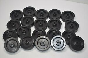 Lot Of 20 Plastic Wheels Roughly 2 1 2 Od 3 4 Wide 3 8 Bore 1 Wide At Axle