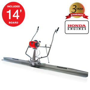 14 Ft Blade 1 8hp Honda Gas Vibrating Concrete Power Screed Float Finishing Tool