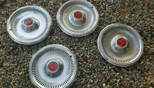 Vintage Pontiac Hubcaps Set Of 4