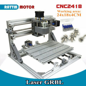 3 axis 2418 Grbl Control Diy Mini Cnc Laser Machine Pcb Pvc Milling Wood Router