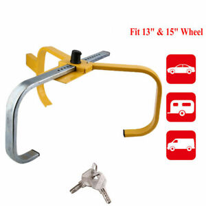 Car Bus Wheel Lock Clamp Tire Claw Trailer Auto Truck Anti Theft Safety 8 Hole