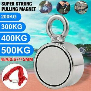 Heavy Duty Super Strong Pulling Force Round Fishing Magnet Max Load 1100lb 500kg