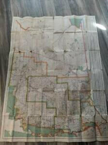 Vintage 1936 Province Of Canada Wall Map
