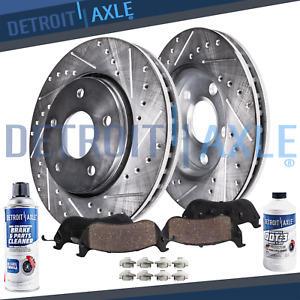 Front Drilled Brake Rotors Ceramic Pads For 2016 2017 Chevy Chevrolet Cruze Volt