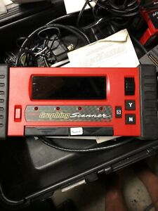 Snap On Mtg2500 Diagnostic Scanner With Cartridges Keys Manuals Cables Case
