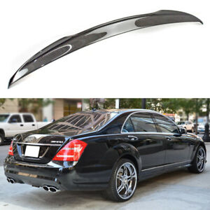 2007 2013 Carbon Fiber Rear Trunk Spoiler V Look For Mercedes Benz W221 4d