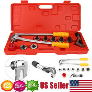 Plumbing Pipe Expander Tool 7 Lever Hvac Hydraulic Copper Heads Tube Swaging Set