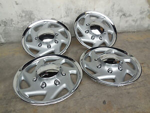 15 Inch Ford F150 Econoline Style Wheel Cover Chrome Silver Hub Cap Ring