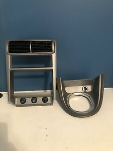 Ford Mustang Radio Shifter Bezel Double Din Trim Gt Cobra 99 04 Silver