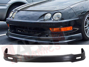Mugen Style Front Lip For 1998 2001 Acura Integra Unpainted Polyproplyene Black
