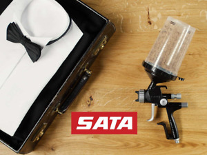 Satajet 5000 B Phaser Hvlp Base Spray Gun Wsb 2 Cups Connector Uk Next Day