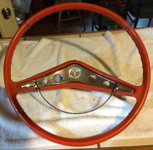 1959 1960 Chevrolet Chevy Impala Steering Wheel Original Red