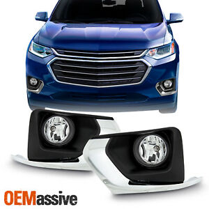 For 2018 2019 2020 Chevy Traverse Bumper Fog Lights Bezel Harness Switch Relay