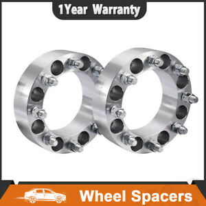 2pcs 2 8 Lug Wheel Spacers Adapter 8x6 5 For Chevy C k 2500 3500 Gmc 14x1 5