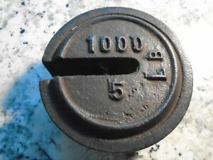 Antique Vintage Cast Iron 5lbs 1000lbs Stackable Weight For Platform Scale Used