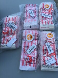 500 Carnival Style Red White Popcorn Bags