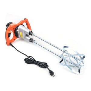 110v 1800w Dual Paddle Electric Mixer Dual Paddle Variable Speed Mortar Grout Us