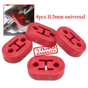 Universal Polyurethane Epdm Rubber Muffler Exhaust Hanger 4 Pcs Red 11 5mm
