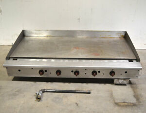Wolf Agm60 60 5 burner Gas Grill Griddle 1 thick plate Countertop 135 000 btu