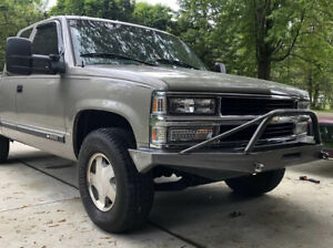 Chevy Gmc 1500 Front Winch Bumper 88 98 Fits A 3 Body Lift Only Pre Runner