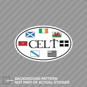 Oval Celtic Flags Sticker Decal Vinyl Celtic Nations