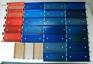 Lot Of 27 Aluminum Coin Roll Trays Pennies Nickels Half Dollars Mmf Industries