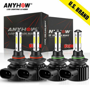 9005 9006 3600w 540000lm Combo Led Headlight High low Beam 6000k 4 Bulbs Kit Us
