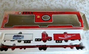 1991 K-Line Coca-Cola TTAX Articulated Flat Cars w/ Tractor & Trailers Set  (M10
