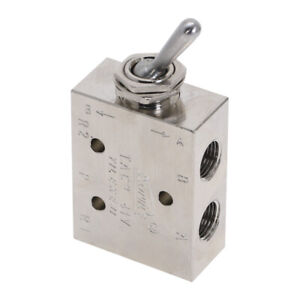Air Pneumatic 2 Position 5 Way Toggle Switch Mechanical Valve 1 8 Tac2 41v
